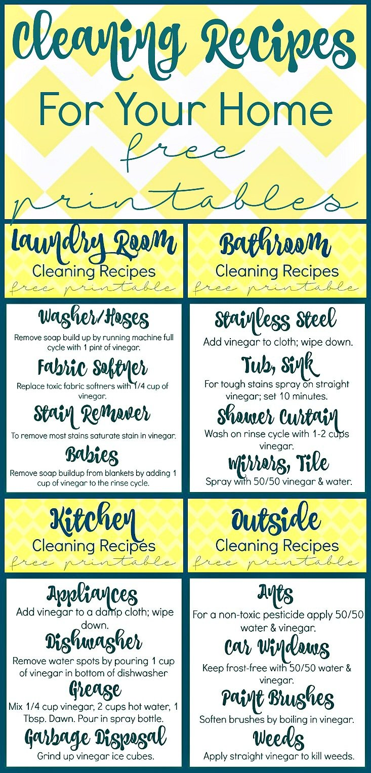 Cleaning Recipes with Vinegar For Your Home at sewlicioushomedecor.com