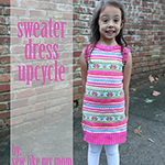sweater dress upcycle