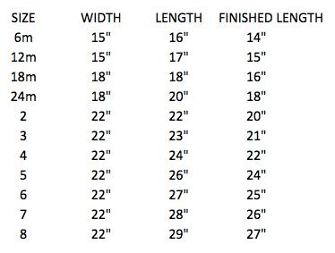 Serged Pillowcase Dress fabric chart | Sew Like My Mom