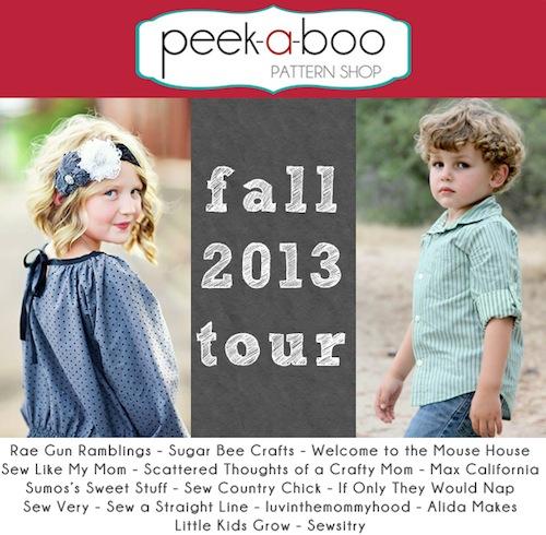 fall 2013 tour Peek-a-Boo Pattern Shop