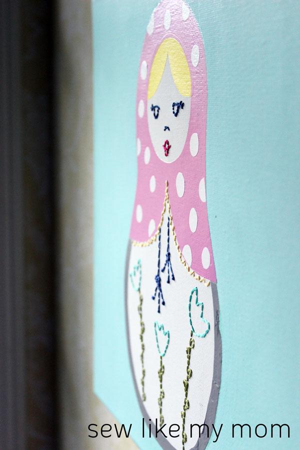 Sew Like My Mom | Matryoshka Doll Canvas