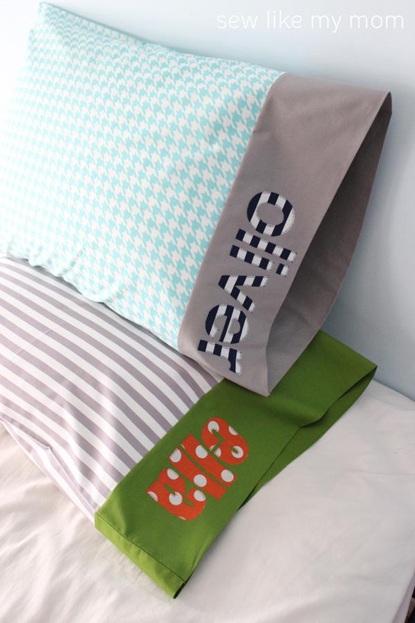 Sew Like My Mom | Applique Pillowcase