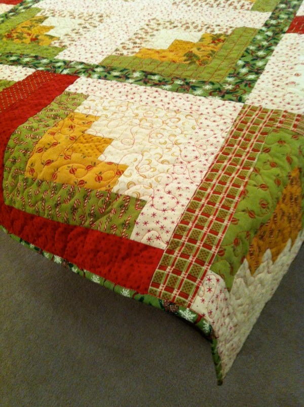 Christmas Log Cabin Quilt Sewluxesew