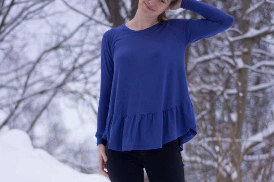 Sew Mariefleur Chalk and Notch Waterfall Raglan