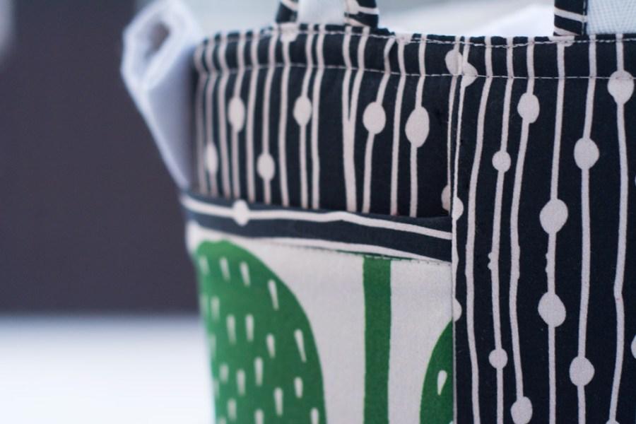 Sew Mariefleur Bonnie Buttermilk Noodlehead Divided Basket