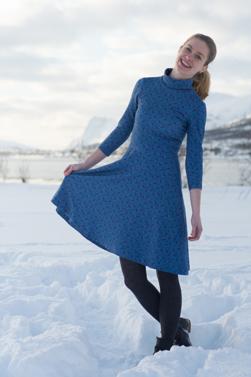 Sew Mariefleur Asta Dress Lila-Lotta
