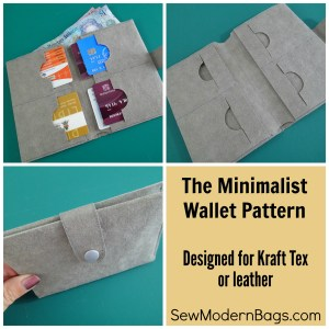 I love the simplistic design of this Minimalist Wallet pattern. Designed for Kraft Tex or real leather, this free sewing pattern with video is ideal to use with that stash of Kraft tex I had no idea what to do with. Great unisex design.