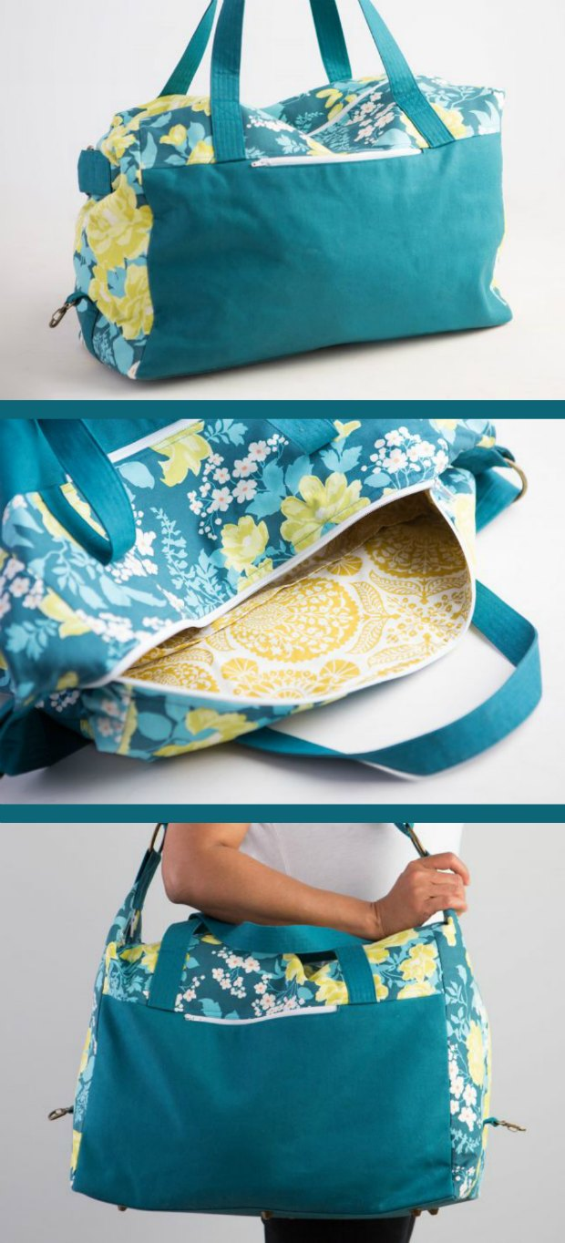 There are lots of new bag making skills fully explained in this video tutorial on how to sew this Weekender Bag. Part of a bag of the month video series. I love all the ones released so far and can't wait for the other bag patterns.