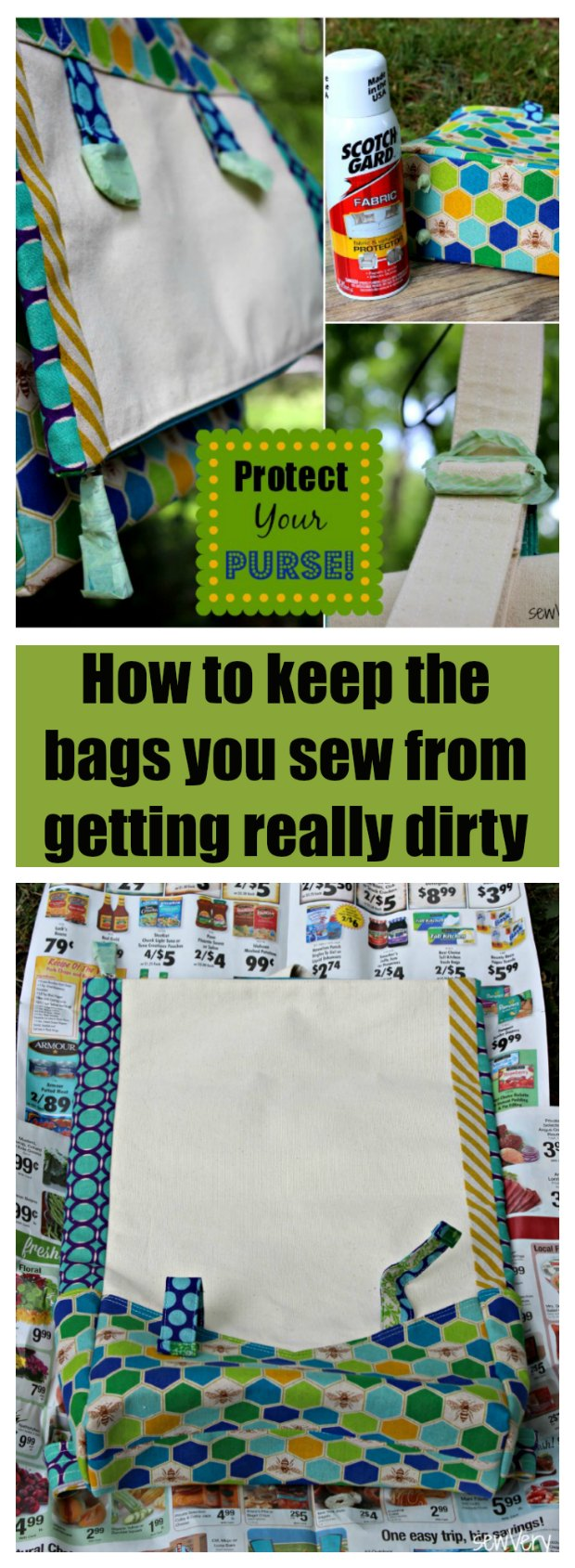Have you ever wondered if you should/could use a fabric protector on your handmade bags? Here's the answer!