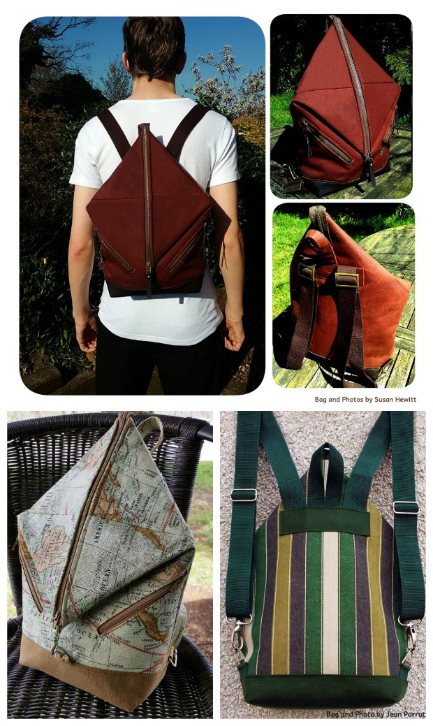 I love this unisex backpack - such an original style. At last a pattern I can make for my neice AND my nephew, plus another one for me. Sewing pattern comes in 2 sizes.