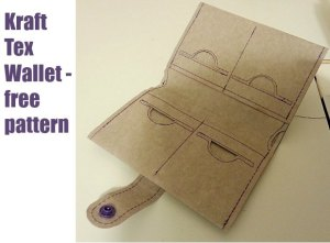 Simple wallet sewing pattern - free. Can be made in Kraft Tex, real leather or leather substitutes. Unisex.