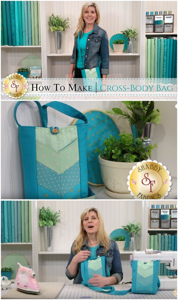 Video tutorial on how to make this cross-body bag.  Easier than I thought, I might sew this pattern for my first ever bag.