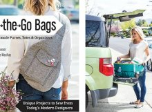 On the Go Bags. 15 fab bags to sew. Love this book. A compilation of bag sewing patterns from some of the best (and my favorite) bag designers.