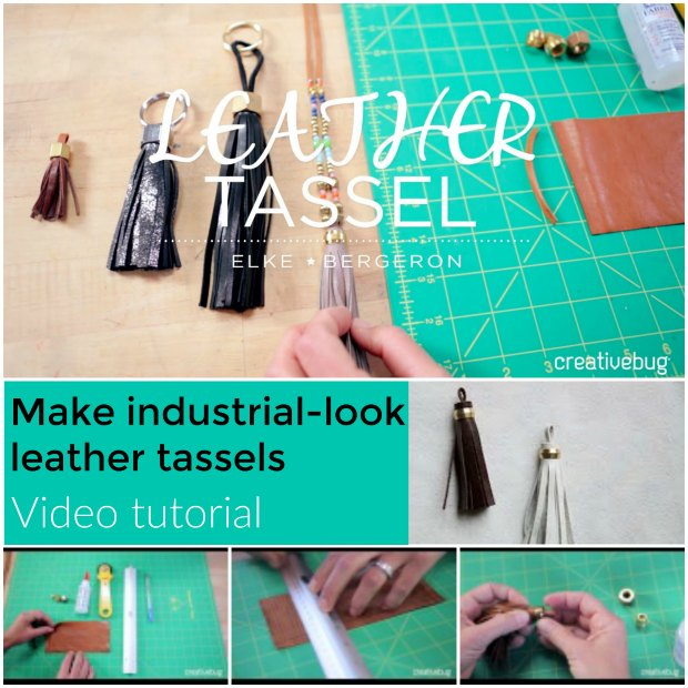VIDEO - make leather/viny tassels using scraps and hardware from the DIY store for an industrial look.