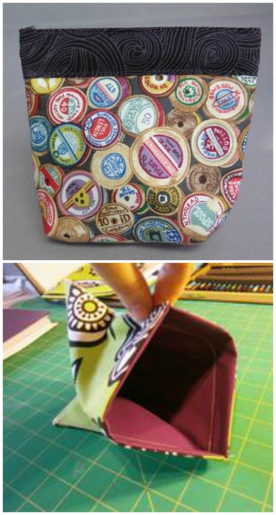 Snappy bag video tutorial, made using a metal tape measure as a closure.