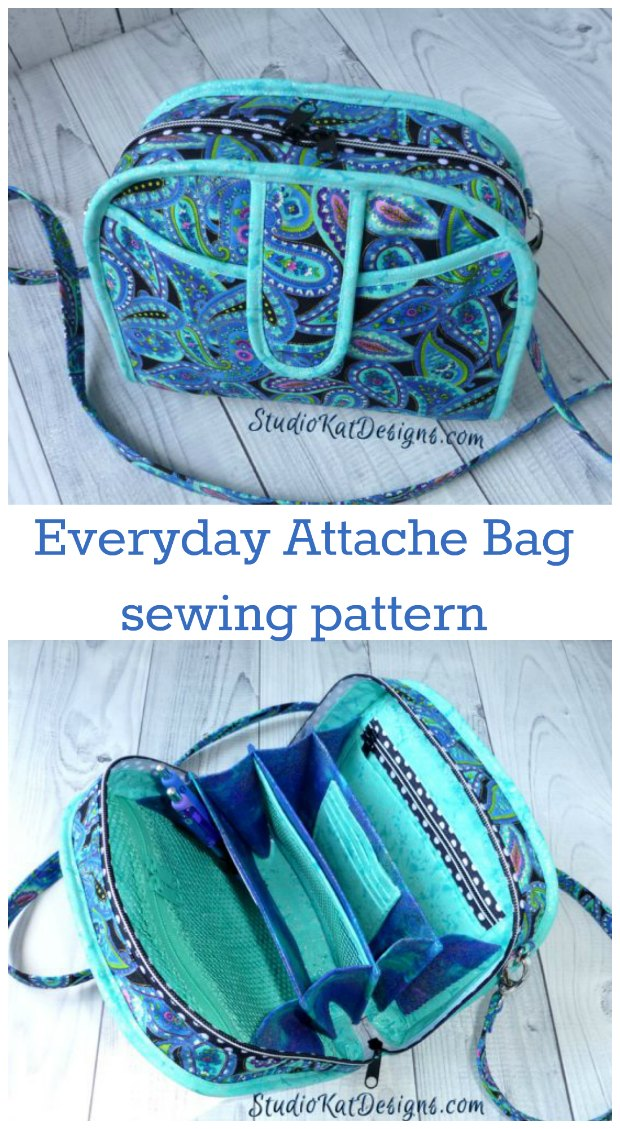 Awesome bag sewing pattern. I learned SO much from these instructions and my bag is fabulous. Recommended.
