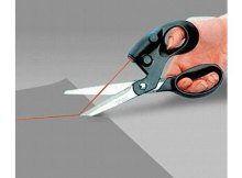 Genius idea for quilters, sewers and crafters. Laser scissors help you to always cut the perfect straight line.