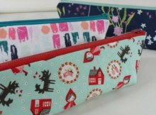 Easy triangle pencil case to sew, free sewing pattern
