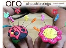 Pincushion ring, literally keeps your pins on hand as you work. Gift ideal for sewers and quilters.