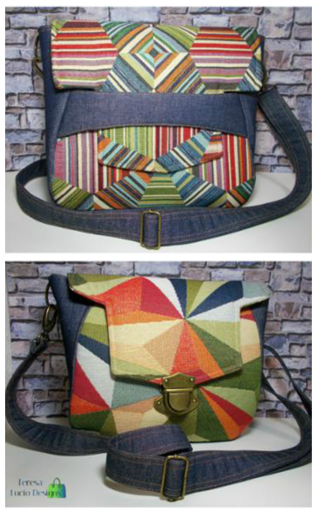 Amelie Shoulder Bag sewing pattern. This is te prefect bag to make for anyone who is just starting out in bag making.
