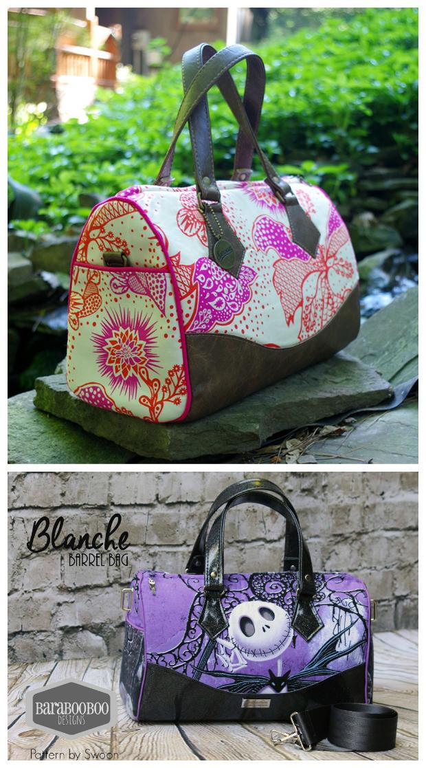 Blanche Barrel Bag - Sew Modern Bags