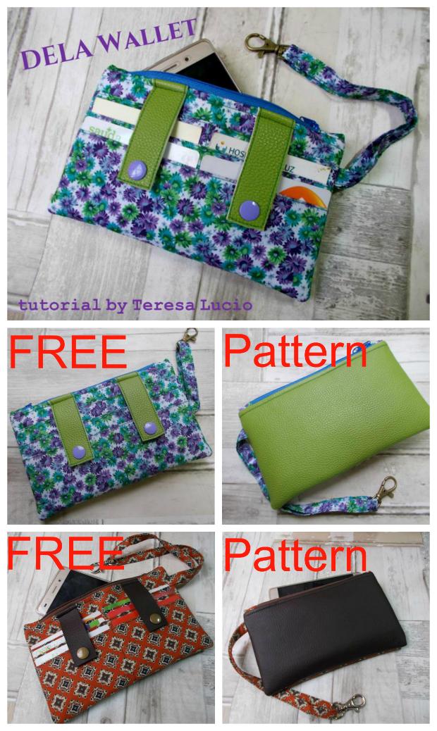 Dela Wallet free sewing pattern - Sew Modern Bags