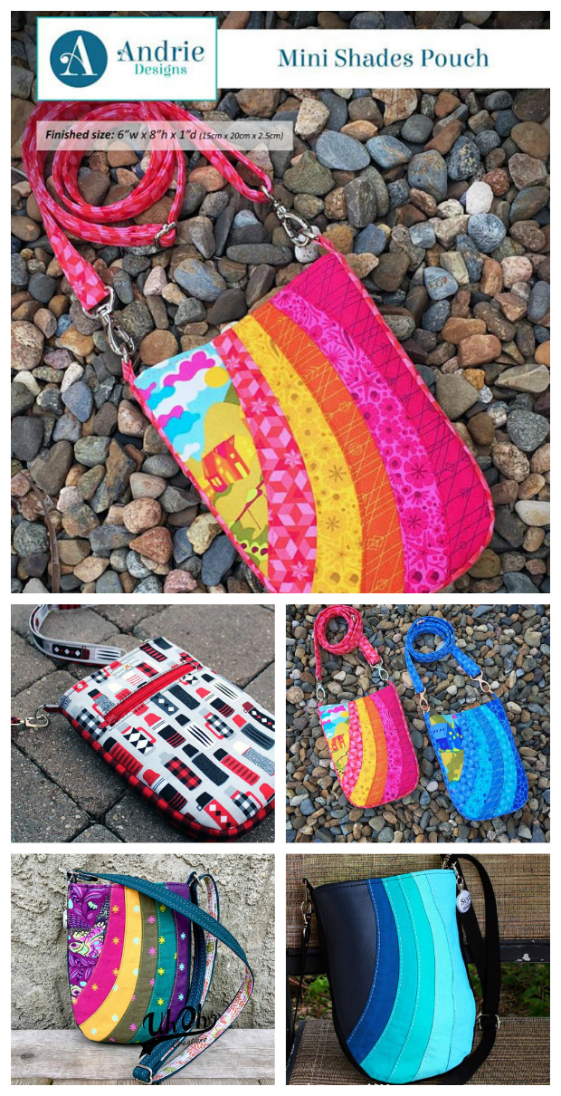 Mini Shades Pouch sewing pattern. This is an easy to follow sewing pattern designed to step you through creating a beautifully pieced pouch, which looks far more complicated than it really is!