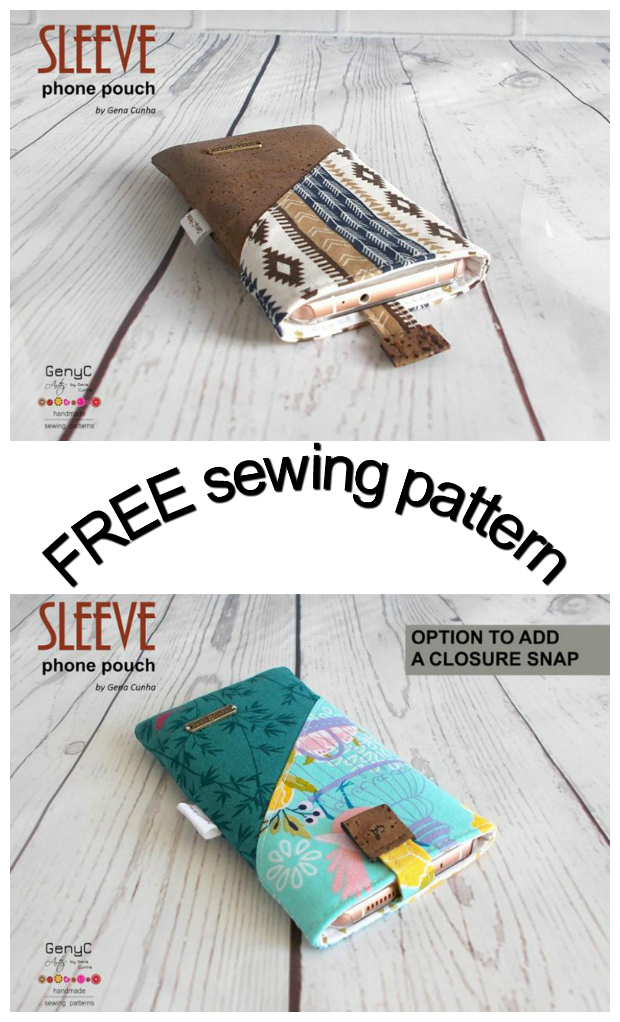 Easy sew sleeve phone pouch - free - Sew Modern Bags