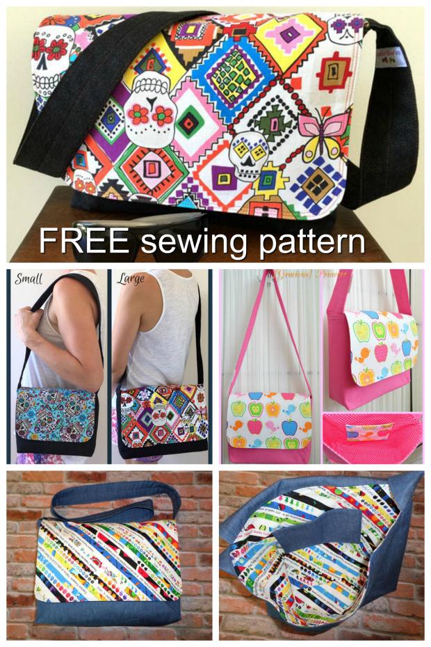 Good To Go Messenger Bag Pattern Free Sew Modern Bags