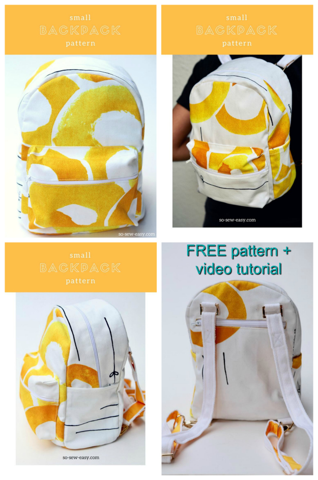Cute small backpack - FREE video tutorial + pattern - Sew Modern Bags