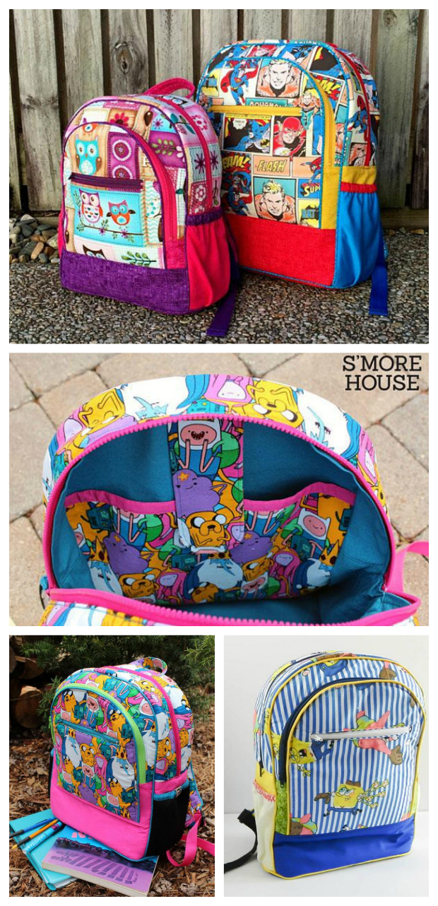 Adventure time backpack sewing pattern sew modern bags now is your chance to make your very own adventure time backpack using this easy to jeuxipadfo Choice Image