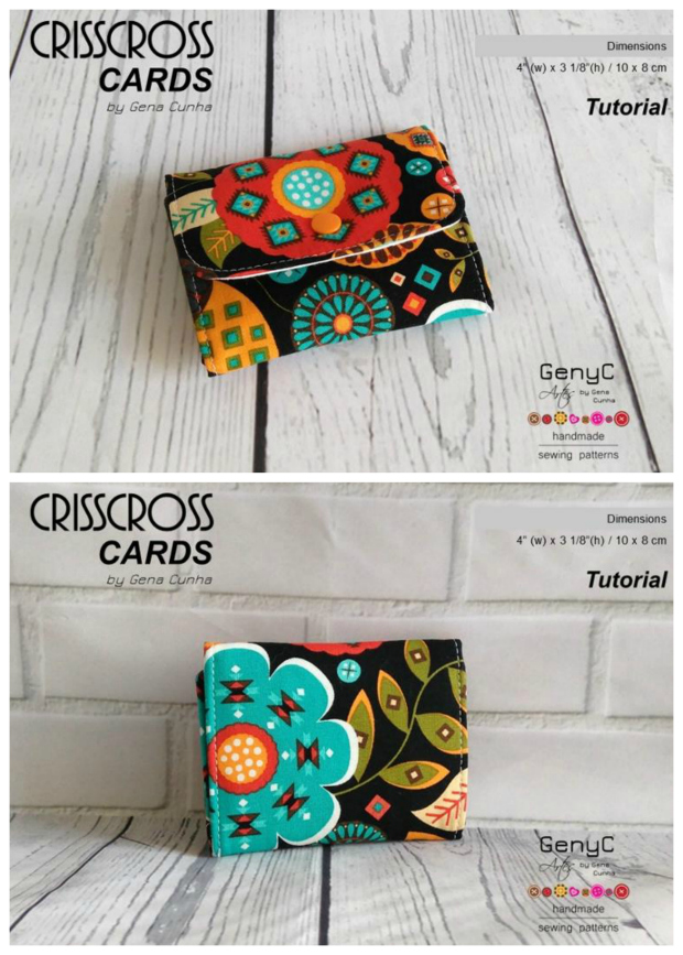 Crisscross card wallet - FREE sewing pattern - Sew Modern Bags