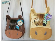 Horse purse or satchel PDF sewing pattern. Just the cutest purse for little girls.