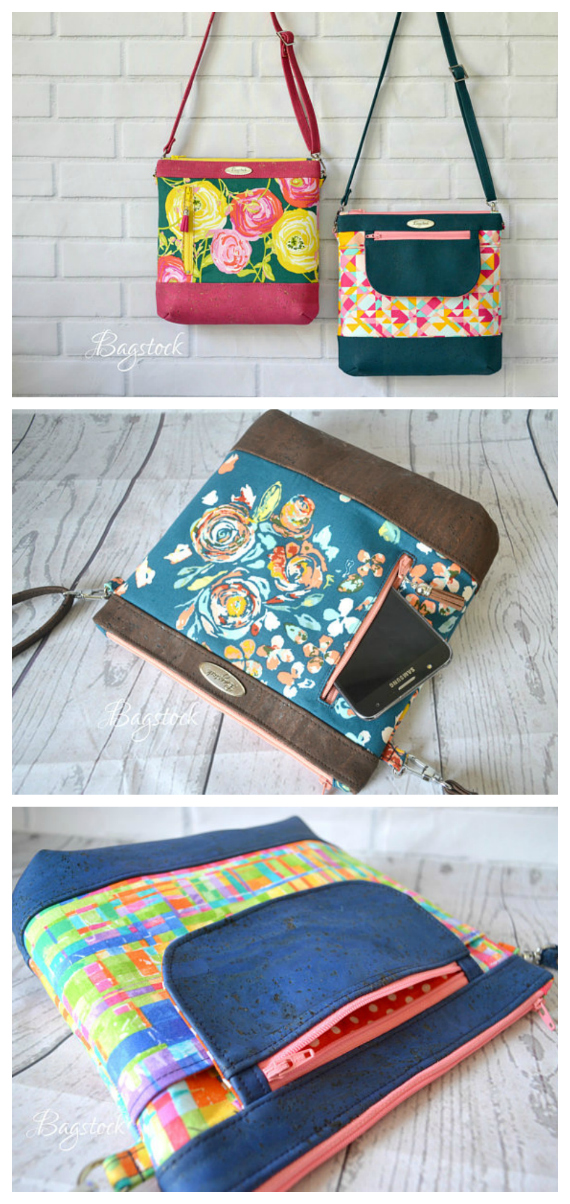 Jasmine Sling Bag / Purse PDF sewing pattern - Sew Modern Bags