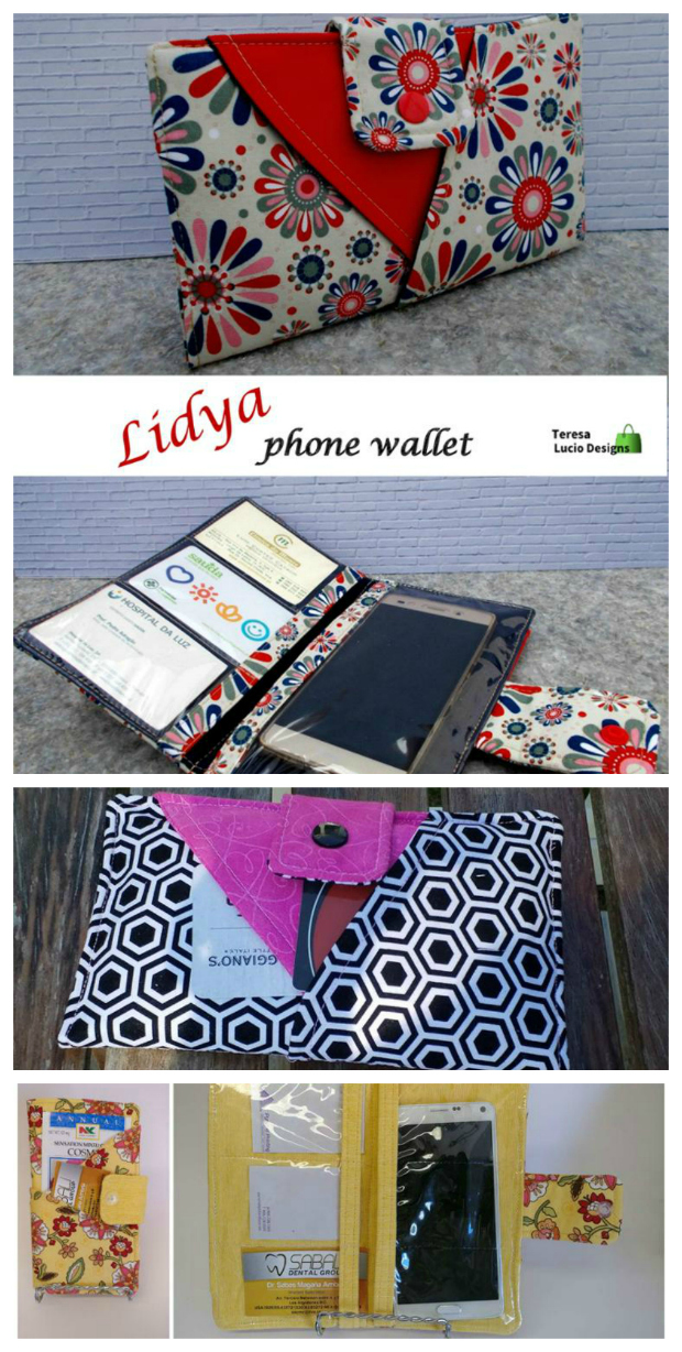 This is a really well-designed wallet that incorporates a novel idea that you can place your all-important phone in the wallet, behind a vinyl pocket, and answer your phone or use the keyboard without having to take the phone out of the wallet. The Lidya Phone Wallet has four exterior pockets together with interior pockets in vinyl with space for 3 card slots and your phone.
