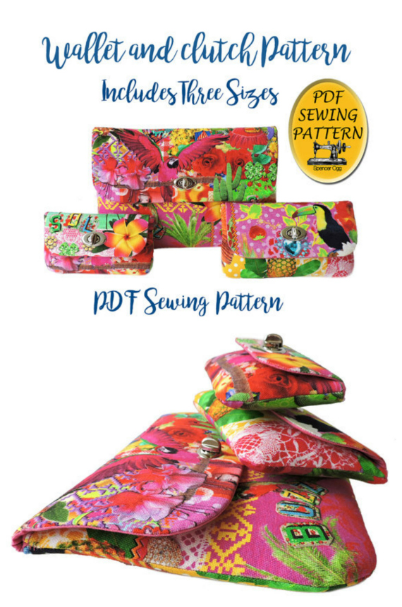 Here's a fabulous PDF Sewing pattern for a twist lock wallet that comes in 3 sizes, so you get 3 full-size patterns for 3 sizes of the purse. This is a moderately easy pattern that is suitable for beginners, that includes an easy tutorial on fitting twist lock clasps and includes a list of the materials you will need to make the wallet.
