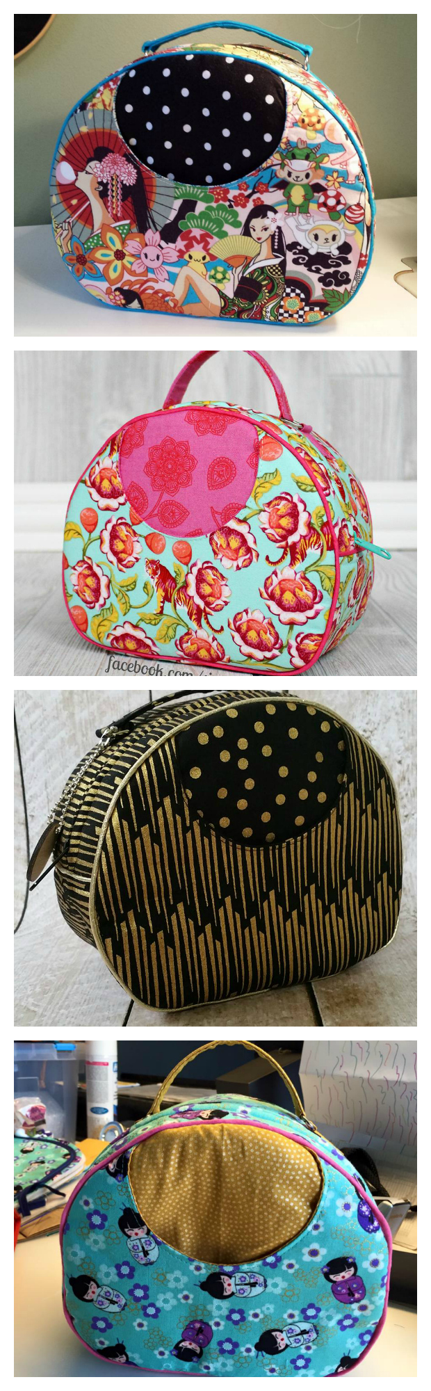 If you want to make the Olive Vanity Bag by Swoon then you can watch the full tutorial here. And if you want to modify the bag so that it opens out flat there is a tutorial for that here too. This spacious vanity bag is the perfect travel companion. It features an exterior slip pocket and convenient carrying handle. There are two sizes included in the pattern.
