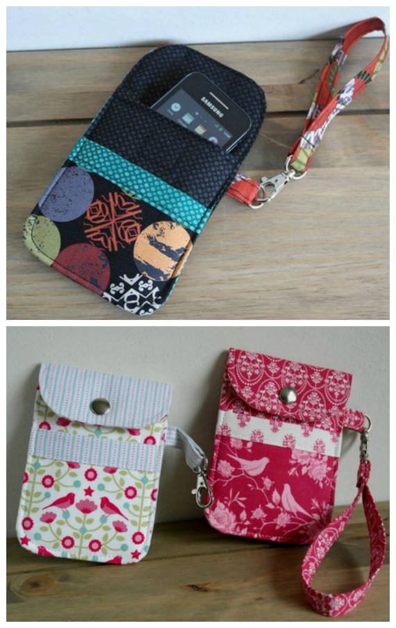 Here we have a downloadable pdf pattern for an awesome mobile phone padded pouch, that is aimed at the advanced beginner sewer. This pattern was actually featured in the December 2013 issue of the Sewing World Magazine. These Mobile Phone Padded Pouches are the ideal accessory for storing a mobile phone. You can make them in fun coloured prints for the kids or choose floral, stripes and contemporary designs for the grown-ups. The instructions include 3 different closure options to choose from and the option of adding a useful wrist-strap.