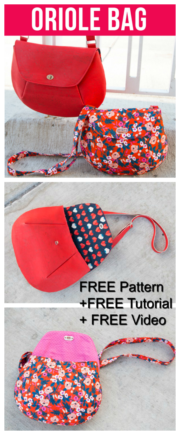"""With this Crossbody Bag you get so much help it's amazing and it's all FREE. With the Oriole Crossbody bag, you get a FREE pattern, together with a FREE tutorial and a FREE """"how to"""" video to watch."""