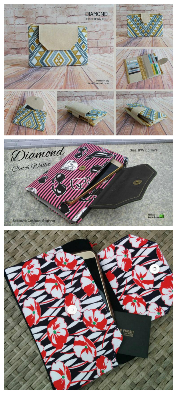 If you want to make yourself an awesome wallet then here is the Diamond Clutch Wallet. It's an absolutely perfect project for a confident beginner with the following features - 13 card slots, 2 separate larger pockets for your notes, a zipper pocket for your coins and a large phone pocket.