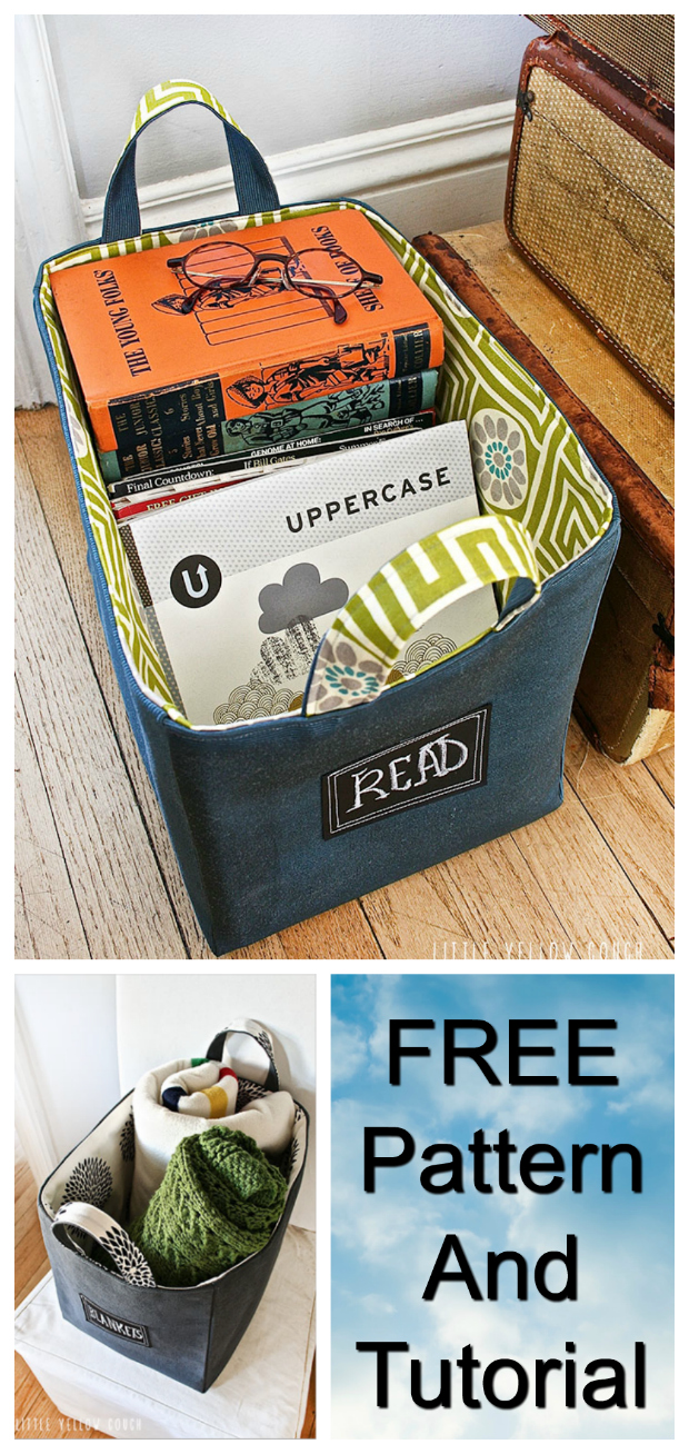 If you want to make yourself a Fabric Basket for storing household items then here is a FREE pattern and tutorial. Once you have made one you will surely want to make more and more of these handy baskets. The chalkboard label on the front allows you to use your baskets for may uses.