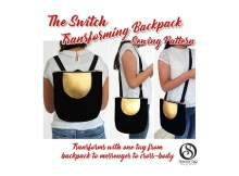 This pattern shows you how to easily make an amazingly versatile backpack, that in seconds transforms into a cross-body messenger bag. No straps to change over, just one quick pull and it transforms! Just think, you can be shopping one minute with your messenger bag, and then transform it effortlessly into a backpack that you can throw on your back ready for the commute home.