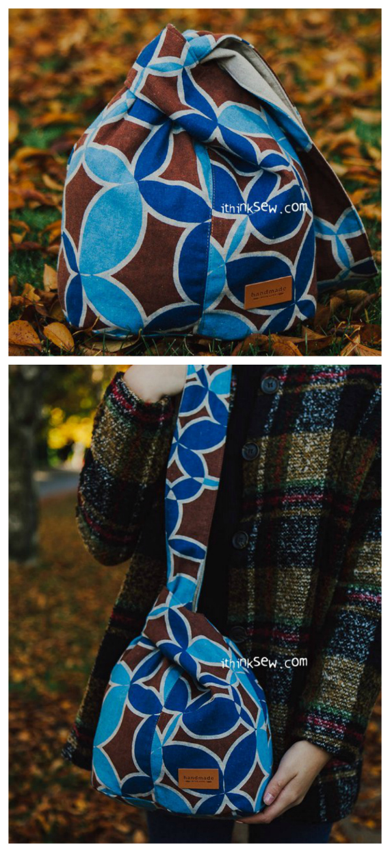 The Suki Japanese Knot Bag comes in two different sizes. The larger stout design is suited for heavier objects as it can be held on the shoulder and it has a spacious interior. The smaller bag is best for light objects. Its small design is great for special occasions and night outs.