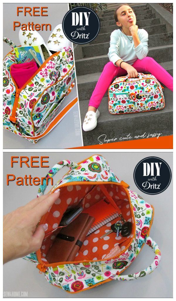 This Compact Quilted Duffle Bag was made as a smaller size bag that would work for kids or anyone who wants a space-saving and on-the-go option. You can access the FREE Pattern & Tutorial below to make thissurprisingly straightforward bag.
