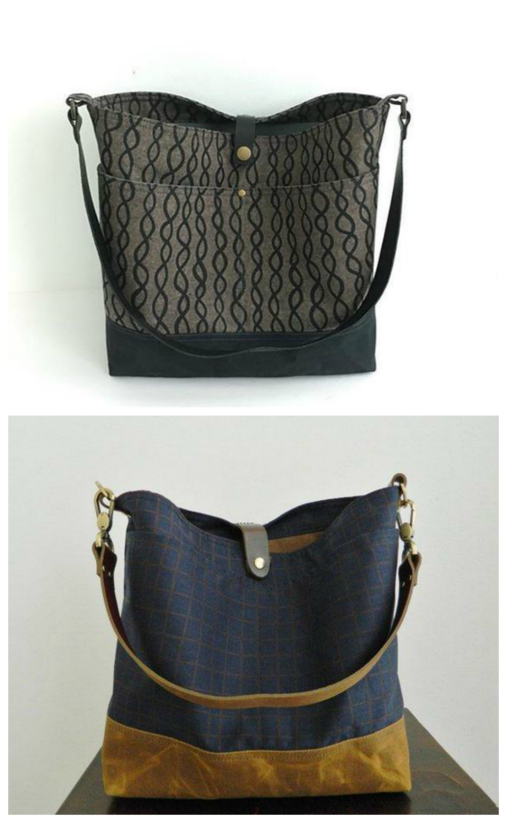 The Vera Slouch Bag pattern allows you to make this beautiful everyday purse. Vera has the following features - an interior zipper pocket, an interior slip pocket exterior pockets a removable strap optional leather strap instructions