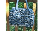 Here's a very unique looking handbag which comes with a FREE pattern. The Denim Farfalle Handbag gets its name from the fact that the Italian word Farfalle means butterfly. This shabby chic bag really stands out from the crowd. It can be made using numerous types of fabric but this one has been made with denim.