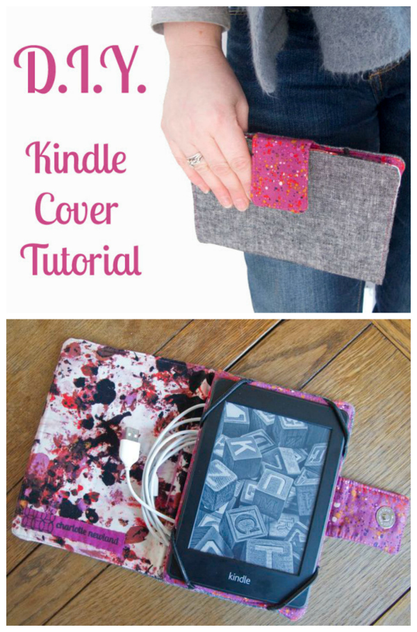 """If you have a Kindle Paperwhite or a tablet and you want to make yourown holder or cover then here we have a great FREE pattern and tutorial. This holder was designed to fit a Kindle Paperwhite (6 5/8"""" by 4 5/8"""") but can be adapted for other tablets/readers. Just measure your device and adjust the dimensions as necessary."""