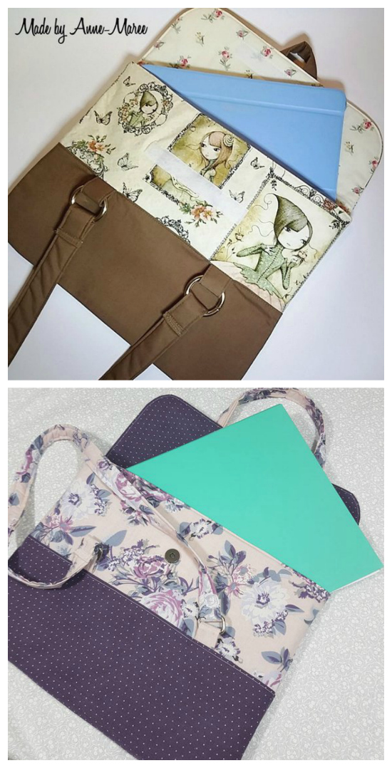 The Paige Portfolio bag is a stylish bag for busy and organised people. It comes in two sizes and has many different uses. The small size fits colouring books, journals, notebooks and tablets, while the large size fits a 2 ring binder or small laptop.