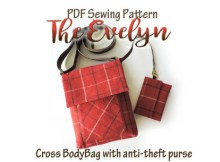 This designer makes beautiful bags. This pattern, which you can download below, is for The Evelyn Crossbody Bag. You will be shown how to easily make a beautiful crossbody bag with a detachable anti-theft purse. It has an adjustable crossbody strap and magnetic snap closure. A generous size, great for everyday use, large enough to accommodate an iPad and all your essentials.