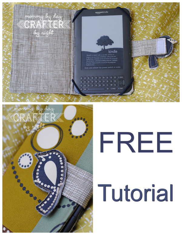 If you want to make a protective case for your Kindle, Ipad, Tablet or Nook then follow along with this FREE tutorial.